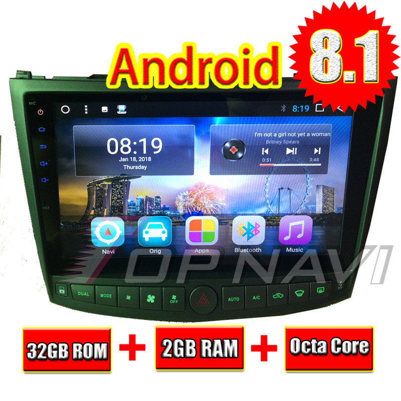Topnavi 10,1 Octa Core Android 8,1 2 ГБ + 32 ГБ, головное устройство автомобиля радио для Lexus IS250 IS350 2005 2006 2007 2008 2009 2010 2011 3g RDS