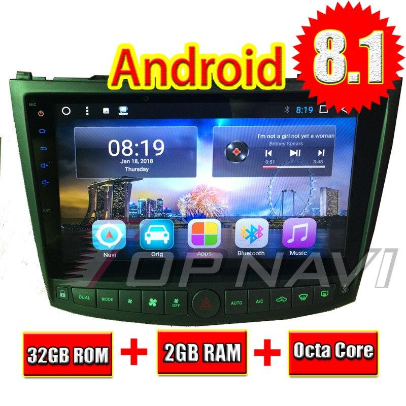 Topnavi 10.1 Octa base Android 8.1 2 + 32 gb Unité de Tête De Voiture Radio pour Lexus IS250 IS350 2005 2006 2007 2008 2009 2010 2011 3g RDS