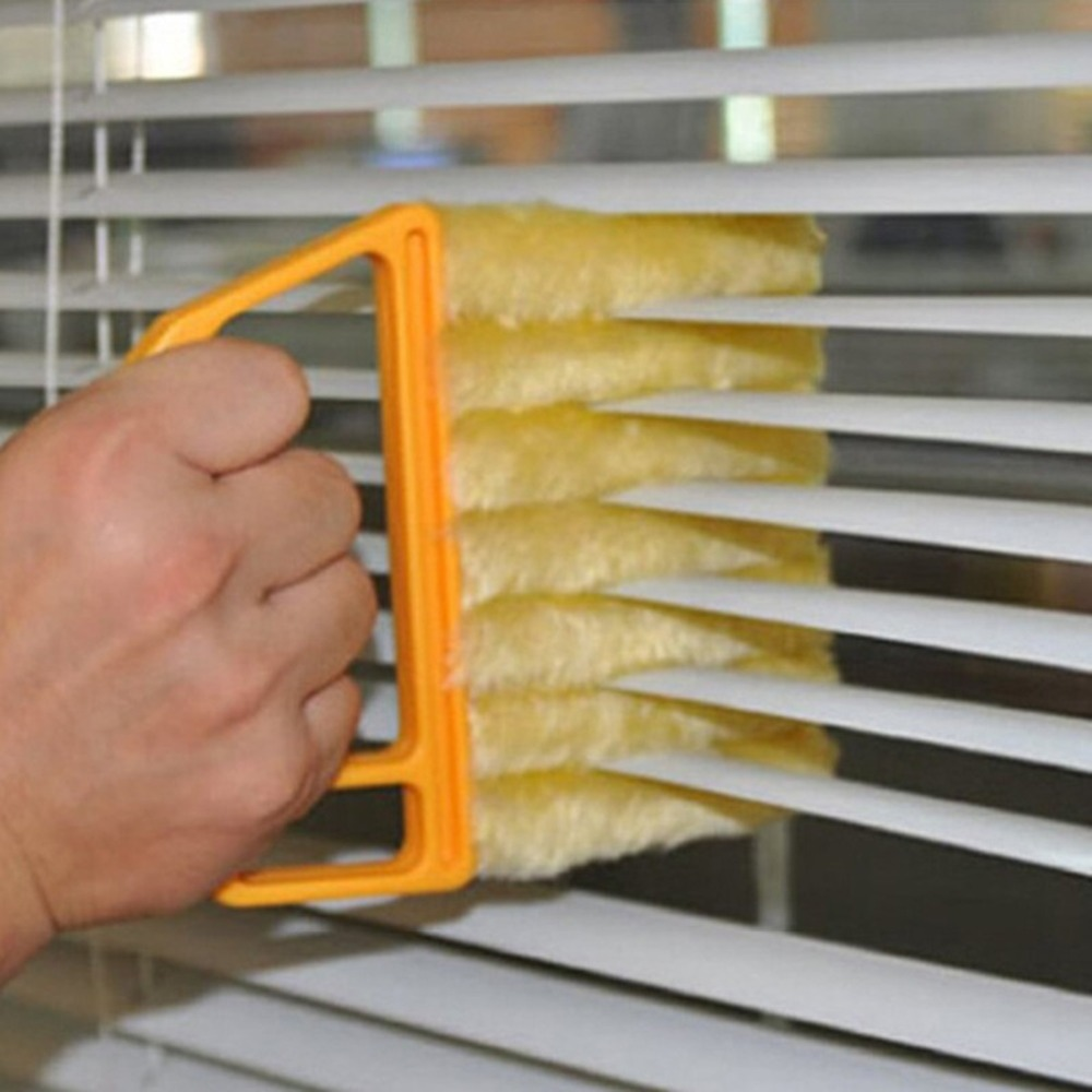 Hot Washable Microfiber Window Mini-blind Cleaning Brush Conditioner Cleaner Duster Household Tool 7 Hand Mini-Blind Cleaner