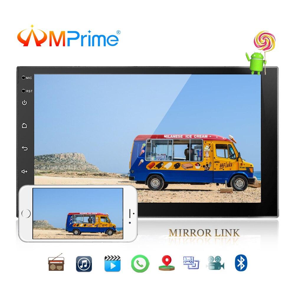 AMPrime 7 ''Android 2 Din Auto Multimedia Player Universal GPS TUPFEN Autoradio Touch Screen Stereo Audio Player Unterstützung Spiegel link