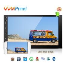 AMPrime 7 »android 2 Din Автомобильный мультимедийный плеер универсальный gps DAB автомобильный Радио сенсорный экран стерео аудио плеер Поддержка Зеркало Ссылка