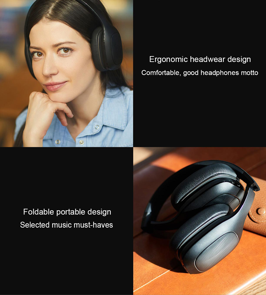 Original Xiaomi Mi Bluetooth Wireless Headphones 4.1 Version Bluetooth Earphone aptX 40mm Dynamic PU Headset For Mobile Phone-66