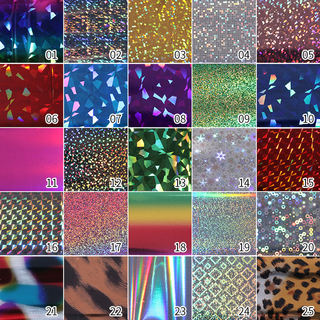 Holographic Nail Foils Colorful Nail Art Transfer Stickers Decals Paper Laser Shimmer Mixed Patterns Nail Decoration Tools