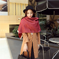 16 Years Of The New European Style Cashmere Scarf Shawl Autumn Lady Warm Fringed Monochrome