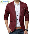2016 New spring men casual Blazer mens linen cotton suit Jacket slim fit Men's classic blazer for male