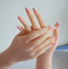 Nice Young Girls Hands for Display,Solid Silicone Female Hands,Sexy Woman Hand with Nail Model,Special Sex Man