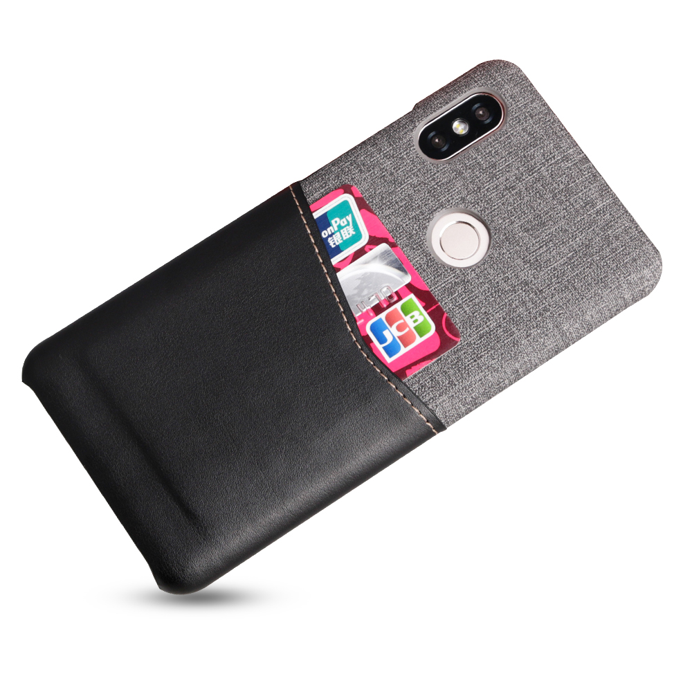 Suntaiho coque for xiaomi redmi note 5 pro Redmi 5 plus case Pu leather+canvas back for xiaomi 8 SE cover for xiaomi 5X 6X case