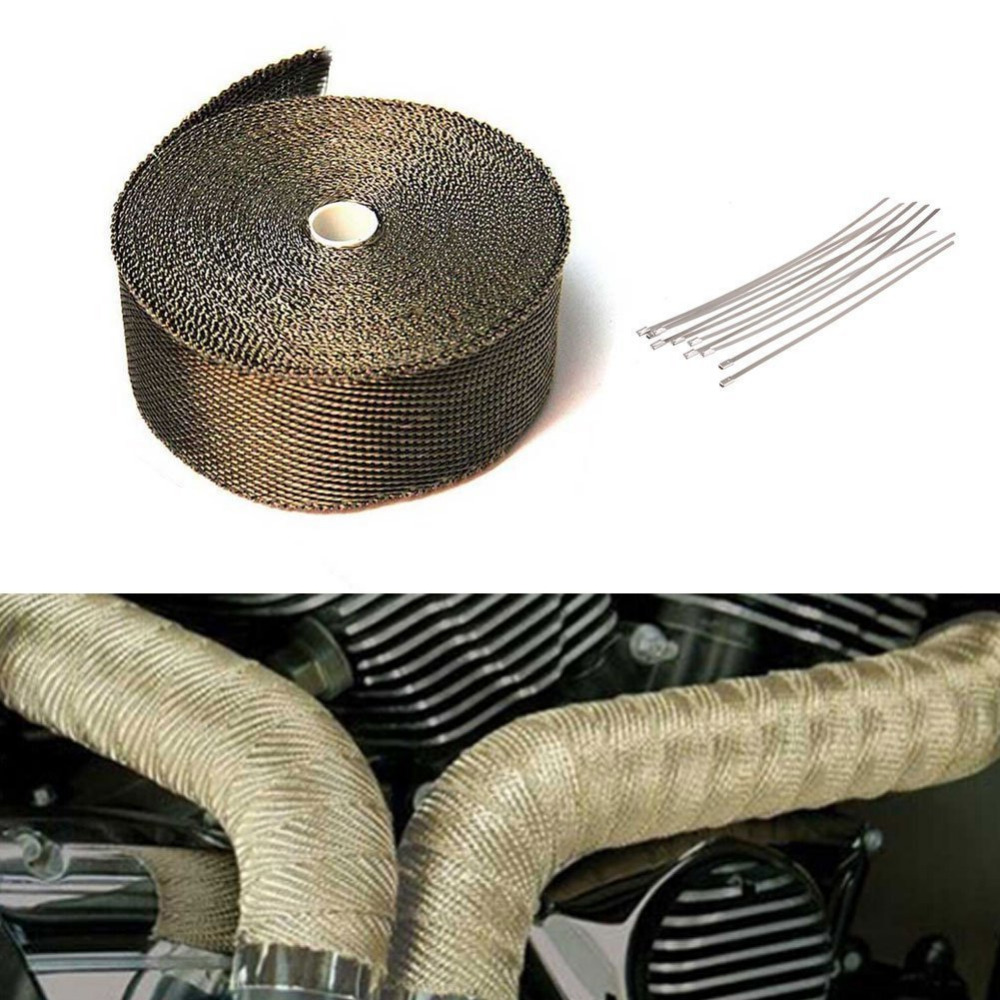 Insulation Tape Ribbon Bandages Bend Thermal Dismantle Exhaust Manifolds + 10 Moto Bindings Electric Bicycle Accessories 5/10MInsulation Tape Ribbon Bandages Bend Thermal Dismantle Exhaust Manifolds + 10 Moto Bindings Electric Bicycle Accessories 5/10M