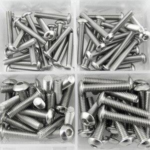 Image 5 - 480 Pz Kit Testa Pulsante 12 Grandezze Vite e Noci, M2 M3 M4 acciaio inox Assortiti Esagono Incassato Viti Bulloni Dadi Assortimento Set Kit