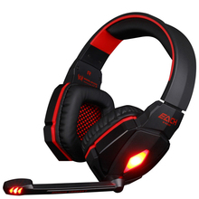 KOTION ELLER G4000 Pro USB 3.5mm Gaming hodetelefon Stereo Bass Gamer Hodesett Med Mic LED Lights For PCcomputer Laptop Game