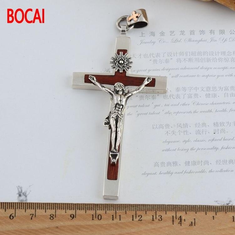 925 Sterling Silver Cross Silver ebony cross Thailand import domineering men Pendant