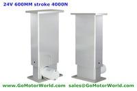 24V 4000N 400KG load 6mm/s mini height 750mm max height 1350mm lifting column for adjustable height desk leg furniture