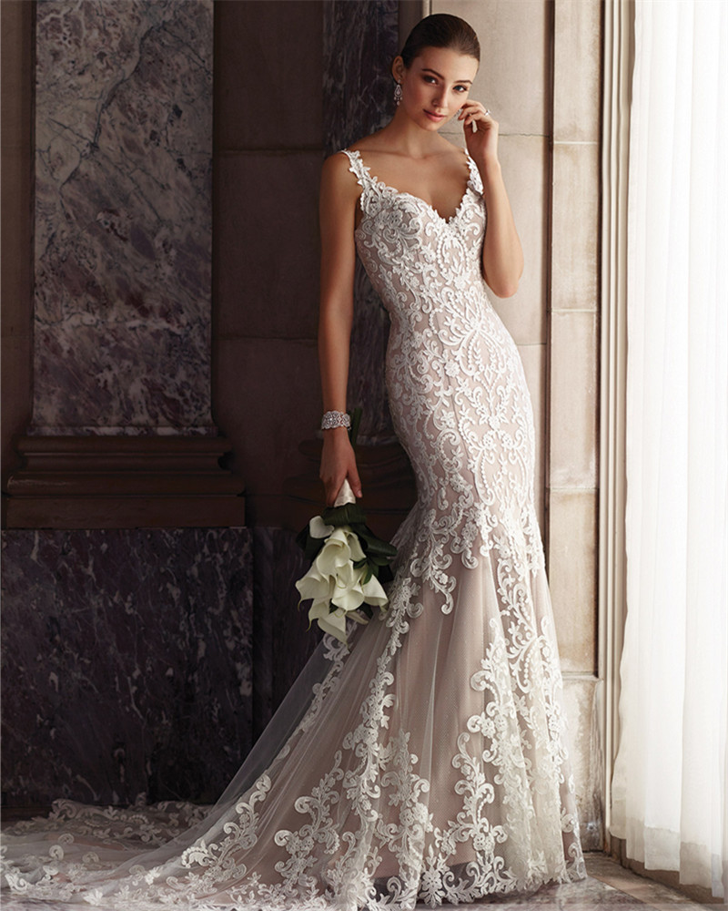 vestidos de novia cheap bridal dress 2016 latest wedding gown designs vintage sexy mermaid lace backless