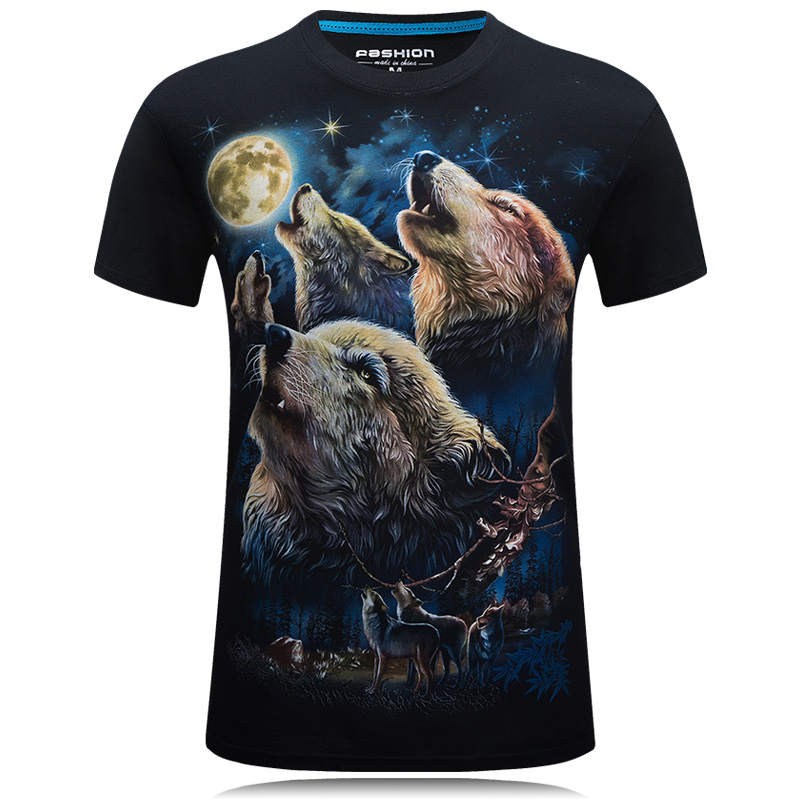 Womens/Mens Graphic 3D T-shirt Print Fashion Short Sleeve Tee Tops S-6XL Hot Sale O-neck Summer New Arrival Coyote BJZG1062