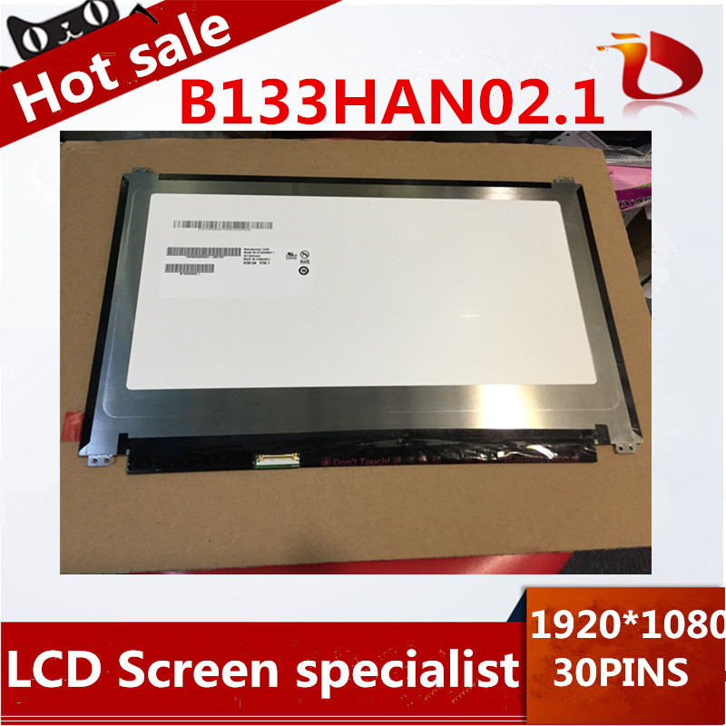 Two pieces High quality 13.3'' Laptop lcd led IPS screen B133HAN02 B133HAN02.1 1920*1080 For ASUS UX305F laptop