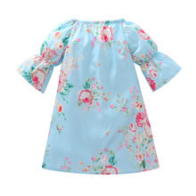 2018 Kids Dresses For Girls Flower Girl Robe Fille Half Sleeve Baby Dress Casual Autumn Clothes