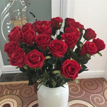 100 sztuk Red Rose Bonsai w magazynie kwiaty nasiona mieszkanie na świeżym powietrzu rośliny ogrodowe dekoracje tanie tanie i dobre opinie COTTON 0 2kg 3inch Bukiet ślubny