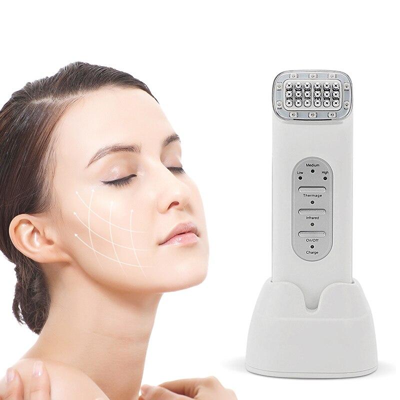 Masseur de visage RF Anti-rides Double menton Machine de beauté matrice de points visage radiofréquence visage levage peau resserrement