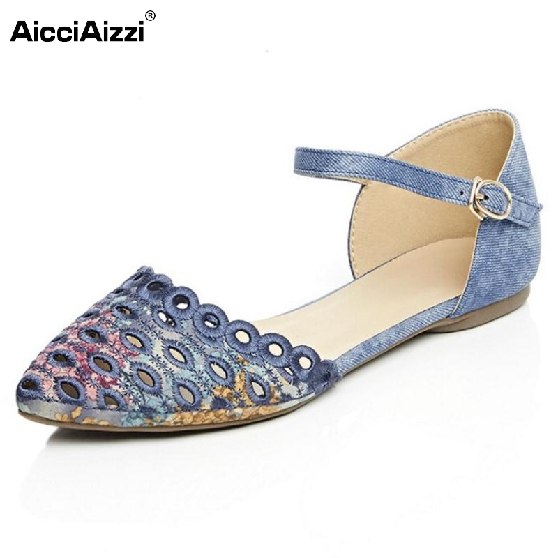 New Flats Sandals Fretwork Ankle Strap Women Shoes Pointed Toe Sample Fashion Lady Shoes Leisure Comfortable Footwear Size 33-42 women flat sandals fashion ladies pointed toe flats shoes womens high quality ankle strap shoes leisure shoes size 34 43 pa00290