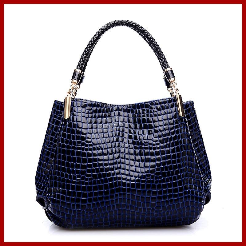 2015 New Women Handbag Genuine Leather Bag Crocodile Pattern Shoulder Bag Fashion Women Leather Handbag Casual Tote Bolsas обложки eshemoda обложка на паспорт owls in love 2
