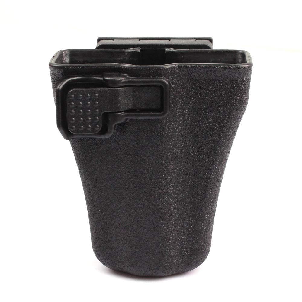 ROCOTACTICAL Polymer Handcuff Case, Duty Gear Open Top Law Enforcement Cuff Case Pouch, 360 Degrees Rotating, Matt Black