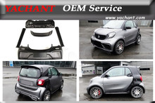 Portion Carbon Fiber Glass FRP Body Kit Fit For 15-17 Smart Fortwo C453 Forfour W453 AMG Style Front Rear Bumper Skirts Spoiler