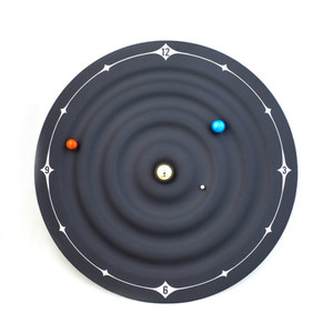 Image 4 - Relojes creativos de mesa con alarma y diseño moderno, relojes magnéticos con diseño de galaxia orbital, relojes de mesa con bolas y decoración para el hogar