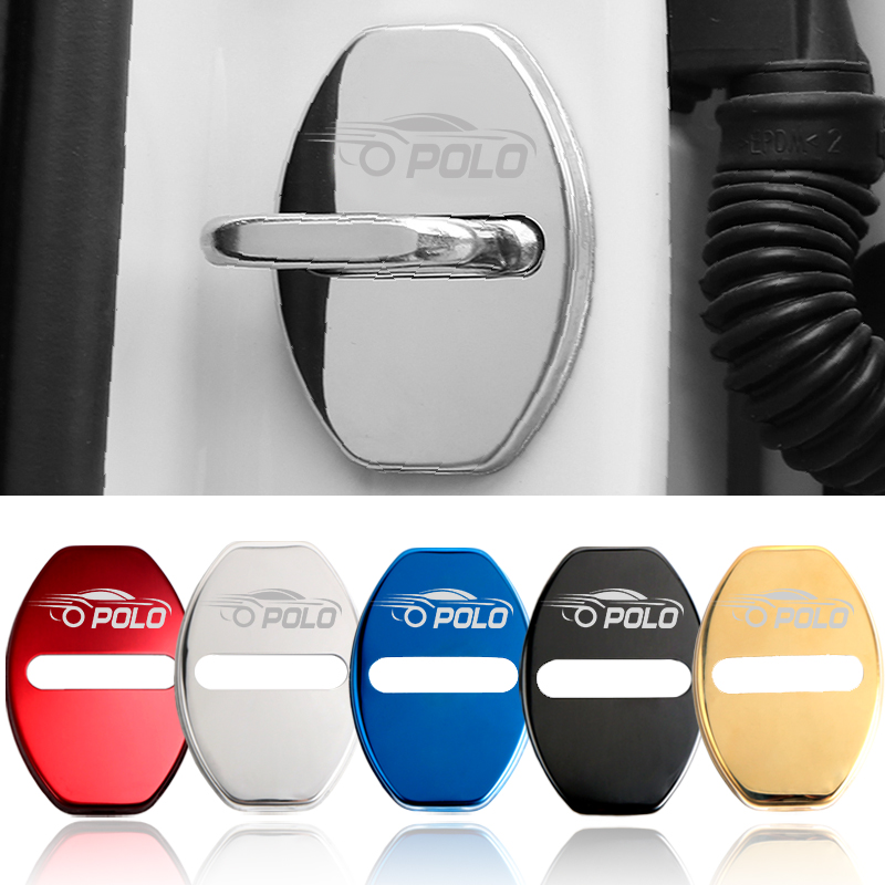 Car Styling Auto Protection New Door Lock Cover Case For Volkswagen Vw Polo Accessories Car-Styling 4pcs