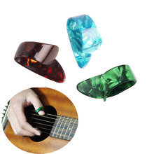 High Quality 3 Pcs Alice Thumb Finger Guitar Picks Celluloid Material Plectrums Thumbpick for Acoustic Guitar Bass Accessories 4pcs set celluloid guitar fingertip 1 thumb and 3 finger nail guitar picks plectrums sheath for acoustic electric bass guitar