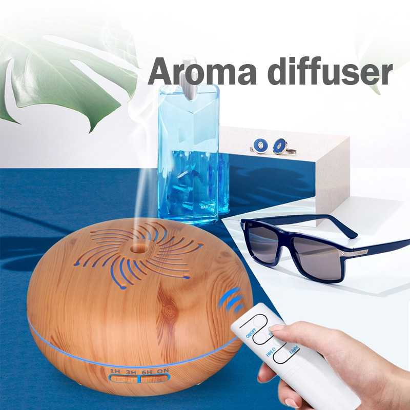 Humidificateur ultrasonique à distance de 550Ml avec 7 couleurs Led allume le diffuseur électrique d'arome d'huile essentielle d'aromathérapie avec la prise d'ue