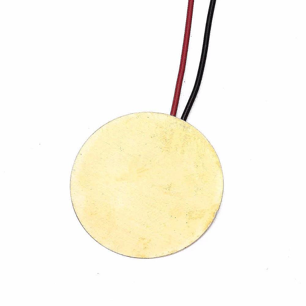 27mm Diameter Copper Piezoelectric Buzzer Piezo Electric Disc Acoustic Mandolin Ukulele DIY Transducer Pickup 10 pcs/lot