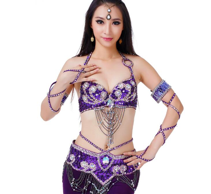 one piece Belly Dance Costume Accessories Beaded Cuffs Gloves Arm Covers Arm Bands Dance Accessories New Hot Sale in Belly Dancing from Novelty Special Use
