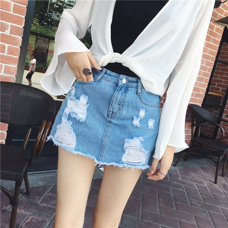 Sexy Skirts for Women 2018 New Denim Skirts Short Summer High Waist Denim Shorts Jeans for Girls ...