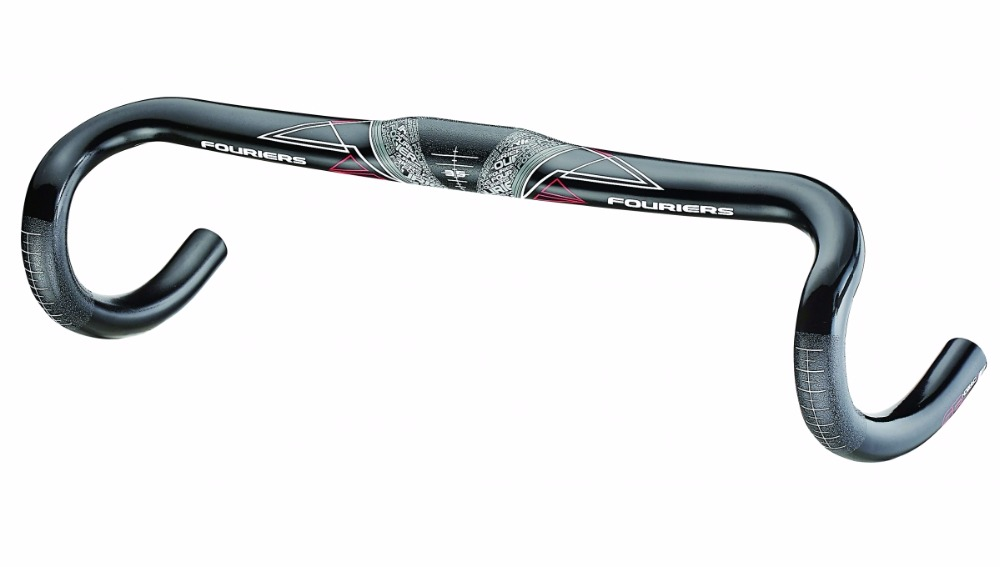 FOURIERS Carbon UD Road bicycle handlebar 35x420mm bike Integral forming Bar type Compact 225g HB-RA003-420 fouriers hb mb008 n2 320 carbon fiber ud mountain bike straight handlebar 31 8x750mm 170g 9 degrees