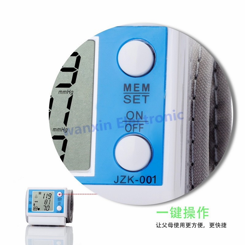 16 New Household Health Monitors Wrist Blood Pressure Monitor Automatic Digital Medical Equipment Health care Sphygmomanometer 4