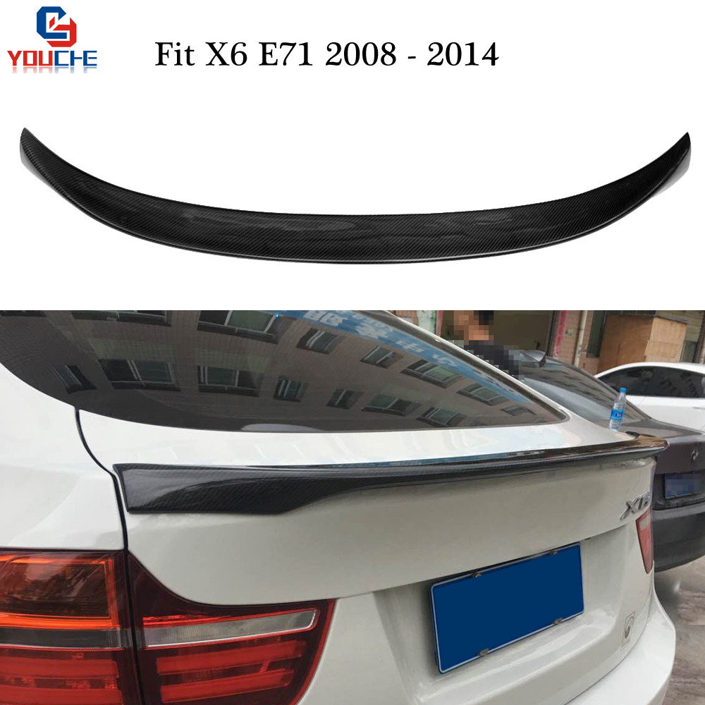 X6 E71 Carbon Fiber Rear Spoiler Wing for BMW X6 Series E71 2008 2014 xDrive35i 50i