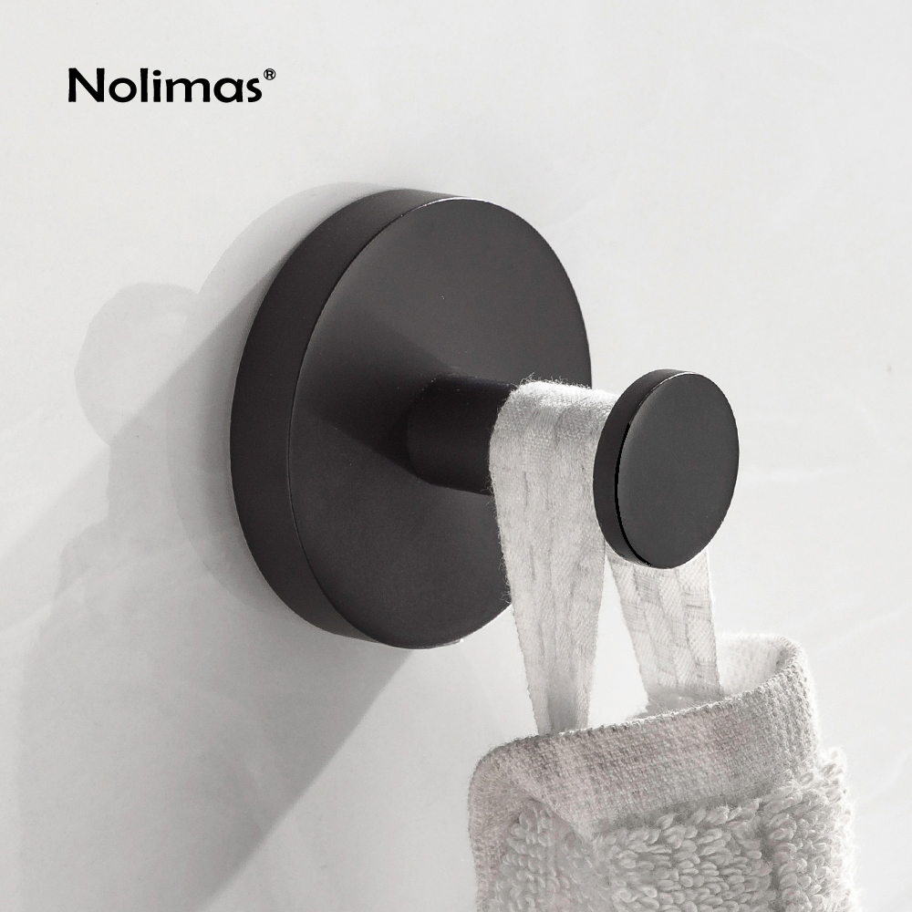 SUS 304 Stainless Steel Matte Black Robe Hook Black Deluxe Towel Hook Wall Mount Square Towel Robe Coat Hat Door Hanger Hook fixmee 50pcs white plastic invisible wall mount photo picture frame nail hook hanger