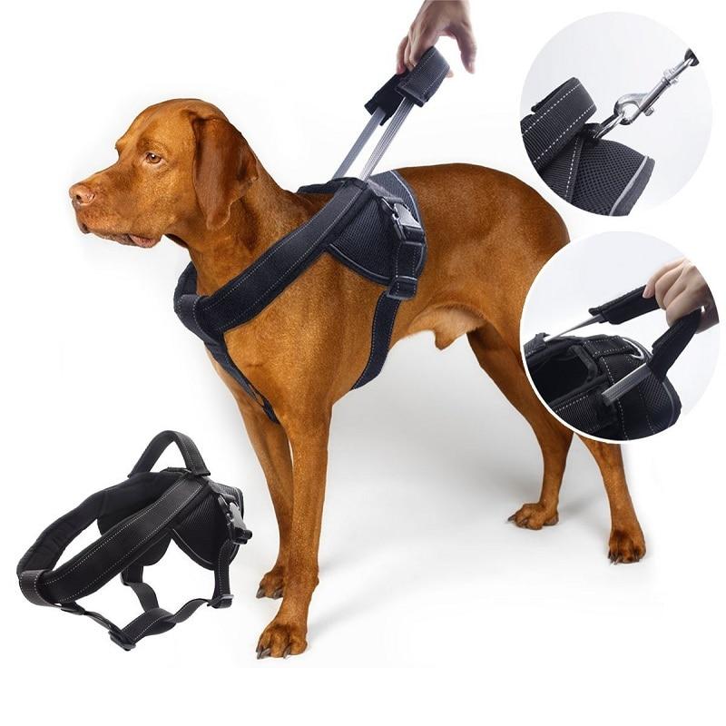 Pet Dog Harness Reflective Soft Padded Large Dog Training
