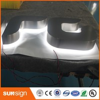 Aliexpress Outdoor led illuminated back light acrylic super bright led letters signs