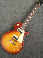 Custom Shop Lp standard electric guitar matte sunburst color LP guitar 59 version striped maple veneer Abr 1 bridge