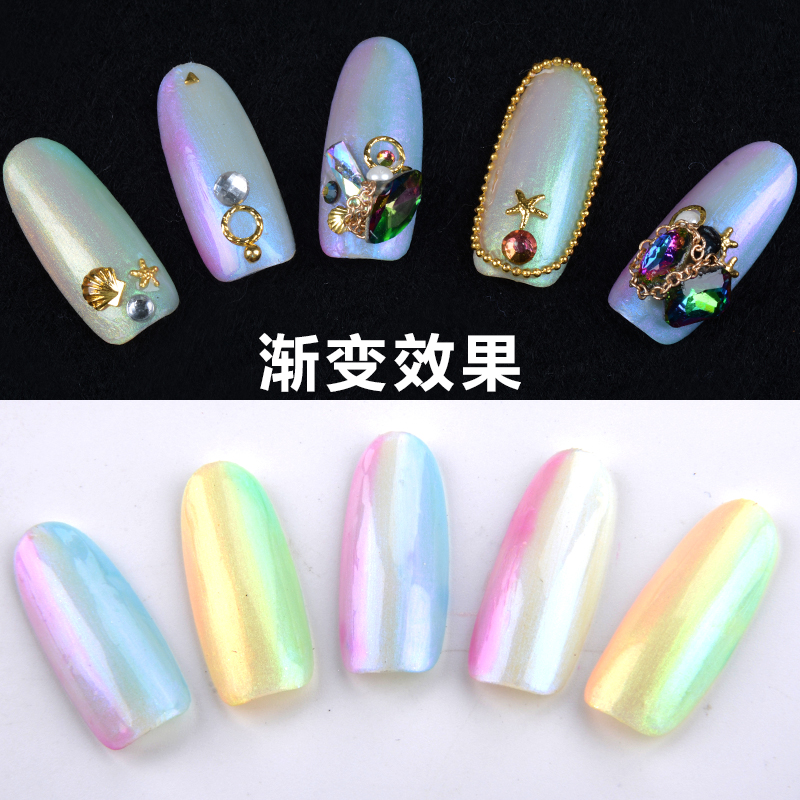 1bottle/lot GAOY New Fashion Gel Nail Art Colorful 10ml Shimmer ...