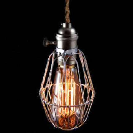 American Style Wrought iron Pendant Lights Loft Vintage Industrial Lighting Bar Cafe Vintage Pendant Light Contain Light Bulb new loft vintage iron pendant light industrial lighting glass guard design bar cafe restaurant cage pendant lamp hanging lights