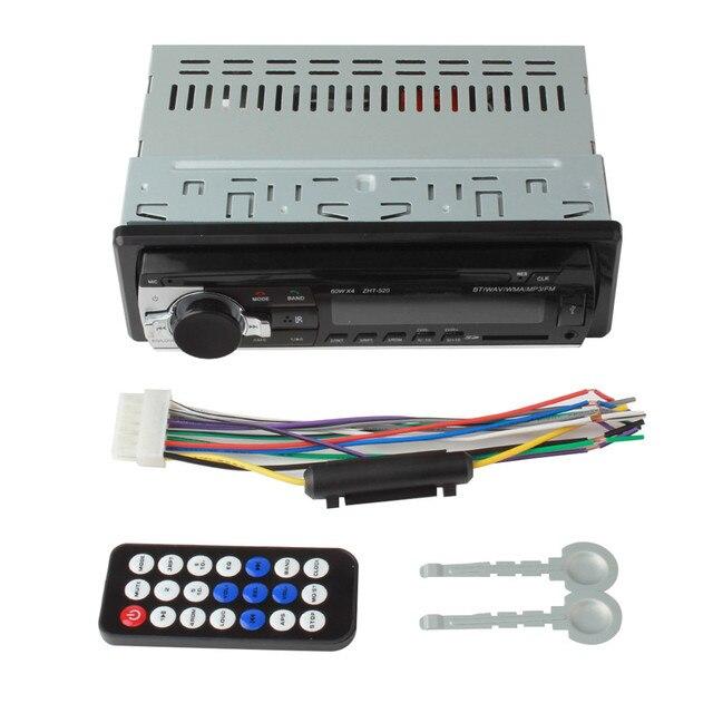 Горячая Sale12V Bluetooth Стерео FM Радио MP3 Аудио-Плеер с USB/SD/AUX/APE/FLAC Автомобильная Электроника Сабвуфер В Тире Один DIN
