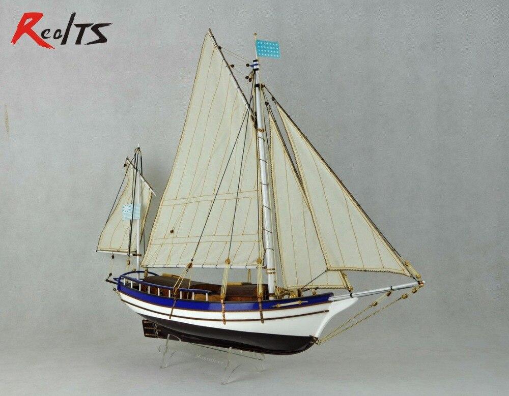 Skala 1/30 klasyka drewniany żaglowiec model statku zestawy do SPARY Boston nowoczesne żaglowiec DIY modelu w Zestawy modelarskie od Zabawki i hobby na  Grupa 1