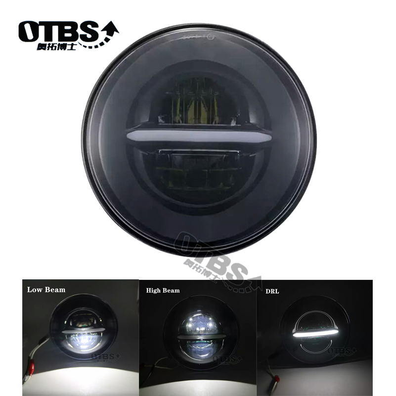 5.75 Inch LED Headlight For Harley Street 500 XG500 Iron 883 Low XL883 Dyna Sportsters XL FLSTSE 5 3/4 Halo Amber Signal Light