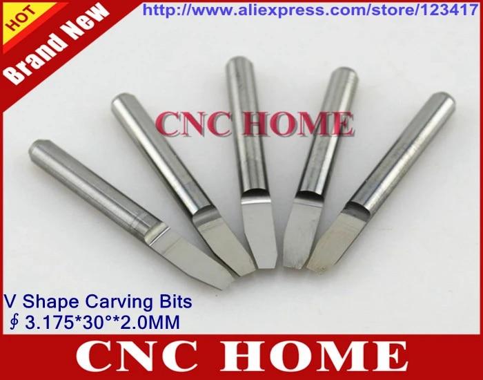 10pcs 3.175 0.1 mm 60  degree CNC Router Flat Bottom Engraving Bit Cutting Tool