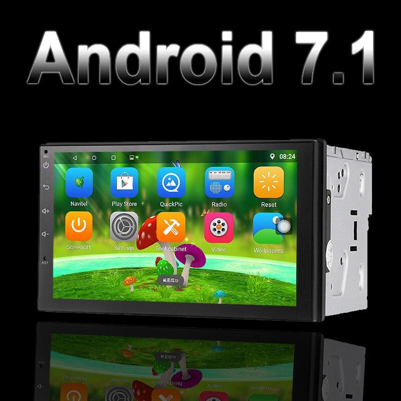 Support dab autoradio 2 din Android 7.1 GPS+Wifi+Bluetooth+Radio+Quad Core 7 inch 1024*600 screen car stereo radio 7021g
