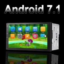 Поддержка dab Авторадио 2 din Android 7,1 gps + Wifi + Bluetooth + радио + 4 ядра 7 дюймов 1024*600 экран стерео радио 7021 г