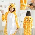 Adult Giraffe Onesies Pyjamas Cartoon Animal Cosplay Pajamas Winter Warm Flannel fleece Sleepwear Women Man Halloween Costumes