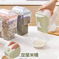 Kwantitatieve Granen Fles Opslag Voedsel Plastic Opbergdoos Jar
